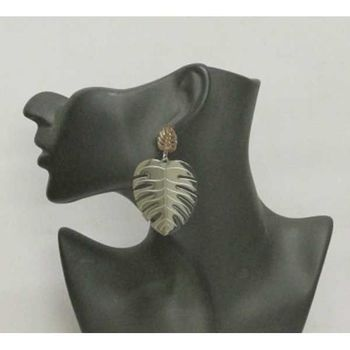 steel palm earring