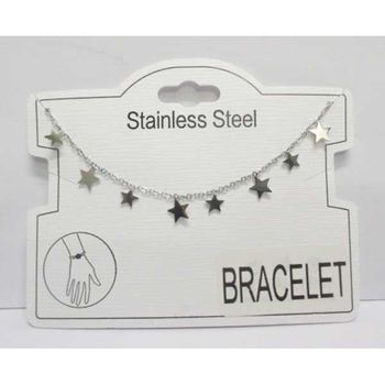 bracelet chain steel medal several stars
