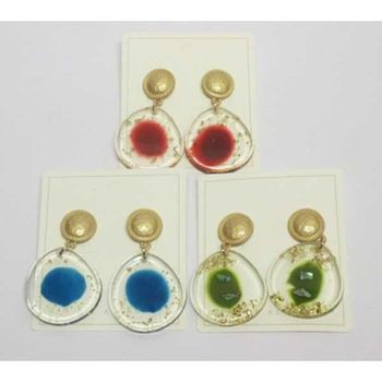 transparent task earring