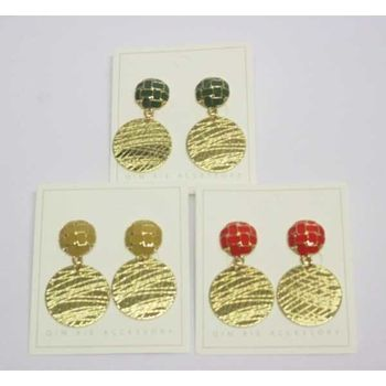 striped quadrille fancy earring