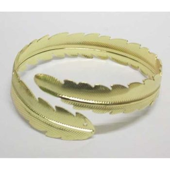 laurel spiral bracelet in gold cuff