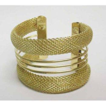 golden mesh bangle accessory