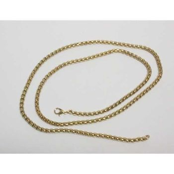 golden metal chain necklace