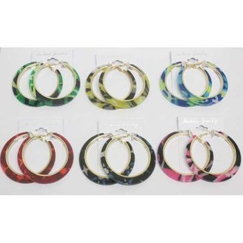military hoop earrings