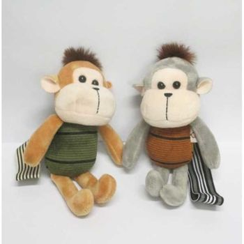 monkey plush keychain