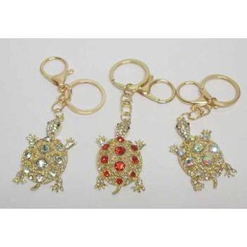 jewelry turtle crystal keychain