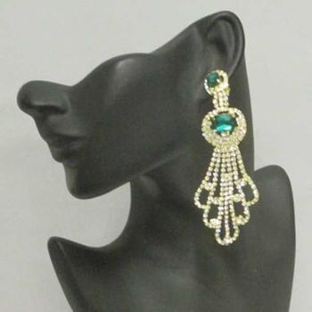 rhinestone pendant earrings