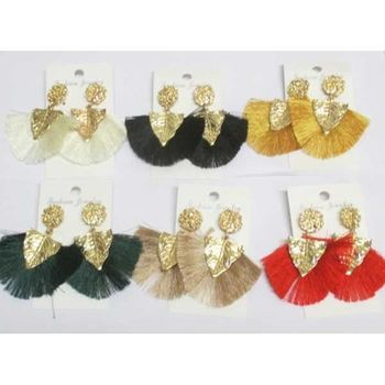 tassel leaf earrings