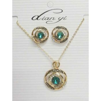 Fancy green crystal set