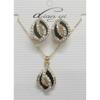 jewelry necklace earring egg shape rhinestone