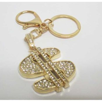 jewelry keychain dollar crystal