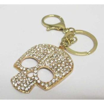 jewelry key ring skull golden hip hop