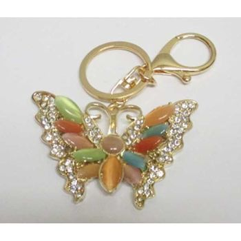 multicolored butterfly keychain jewelry