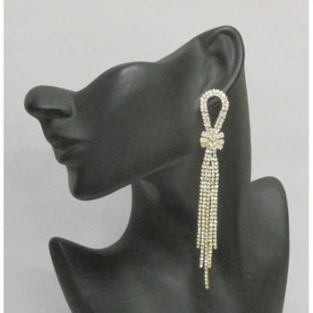 knot earrings during rhinestones