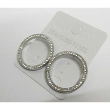 pavé crystal ring earrings