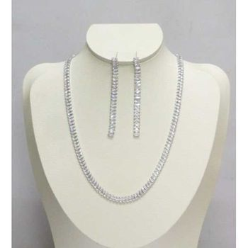 zircon pendant earring necklace