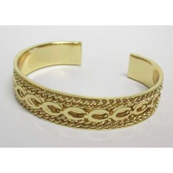 gold bangle bracelet fish chain