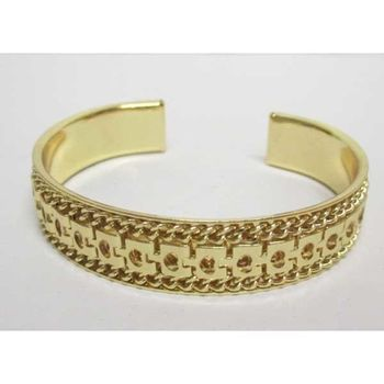gold open bangle bracelet