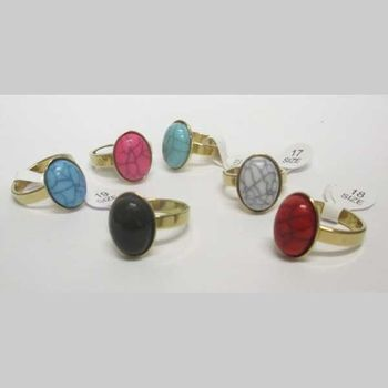 lot colored stone ring