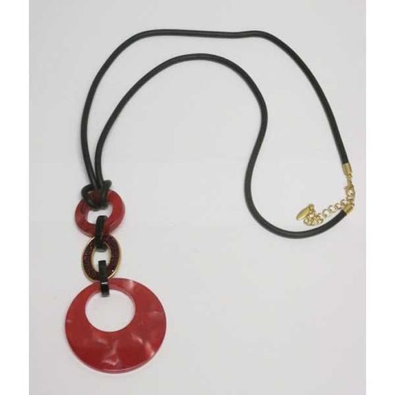 long necklace resin jewelry