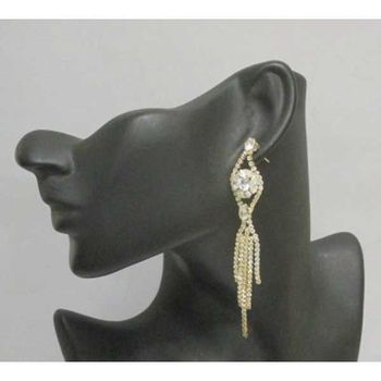 simple pendant rhinestone earrings
