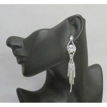 boucles d'oreilles chic strass mariage