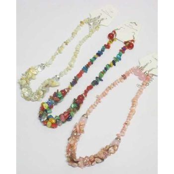 Stone jewelry pack necklace and earrings