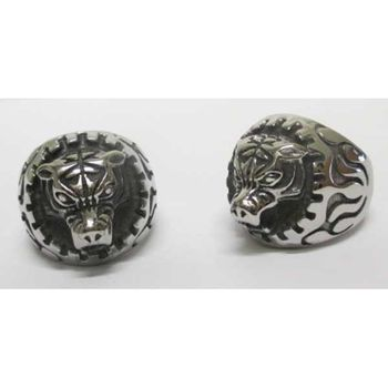 man tiger head ring
