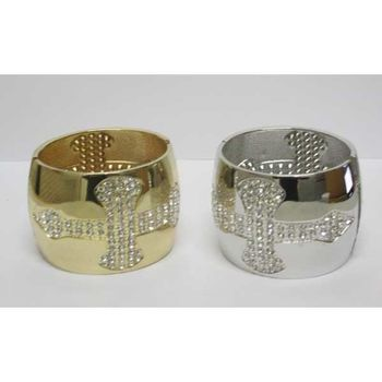 rhinestone cross bangle