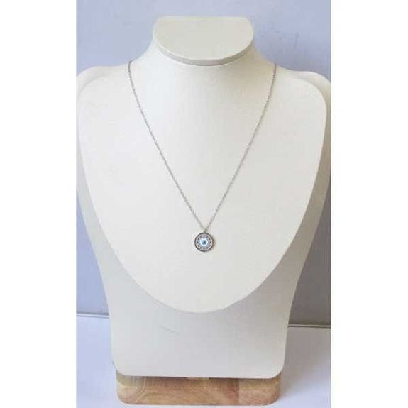 blue eye round pendant