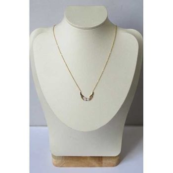 Gold plated butterfly wings necklace jewelry