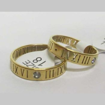 woman roman numeral ring