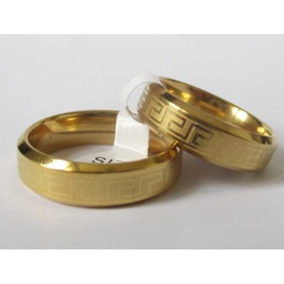 ring great wall steel golden