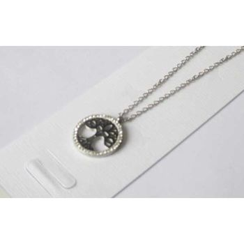 steel circle of life circle pendant necklace steel