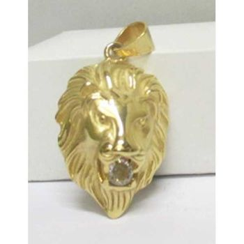 lion head with golden steel crystal