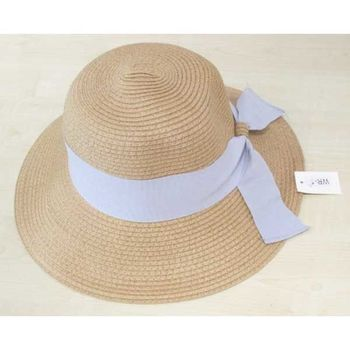 bow ribbon straw hat