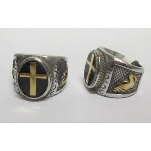 men's cross ring