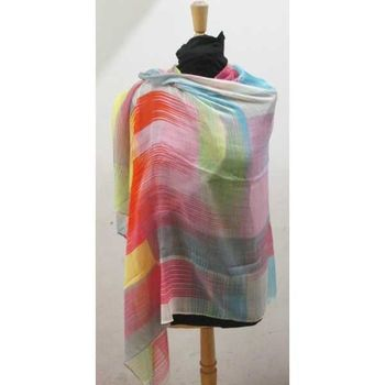 brightly colored square scarf