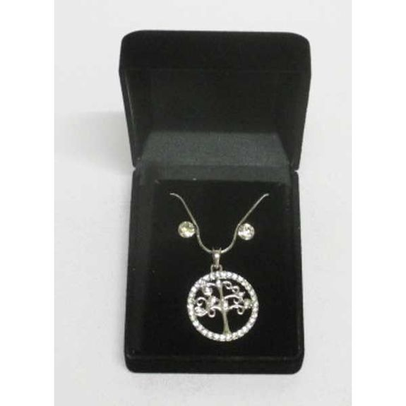 jewelry pendant tree of life crystals in box