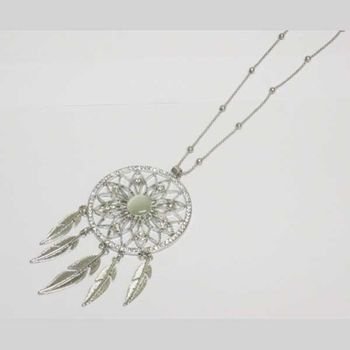 jewelry dream catcher pendant on dress