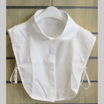 white removable Peter Pan collar