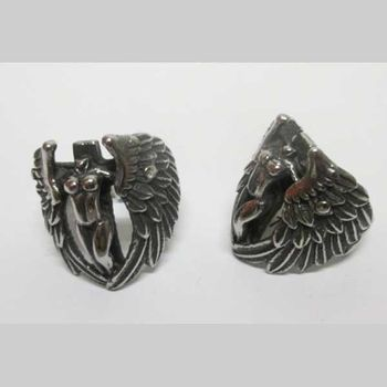 nude woman biker ring angel