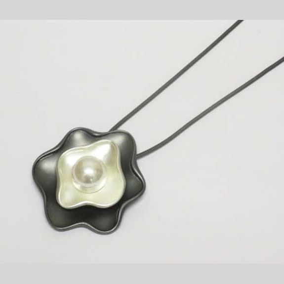 resin flower pearl pendant jewelry