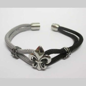 lys bracelet black and gray cord