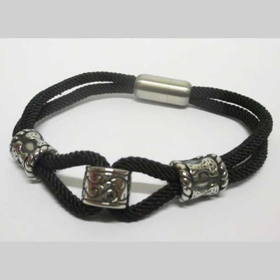 magnetic steel charms bracelet