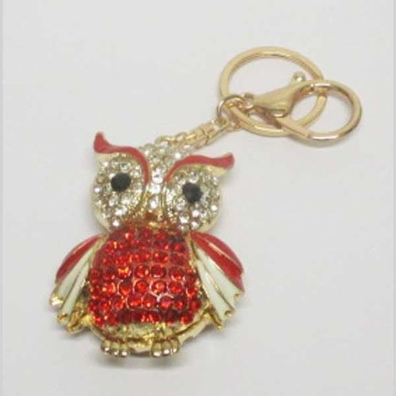 red gold owl bag jewelry