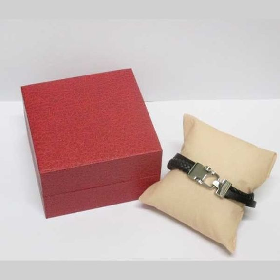 leather bracelet in its box