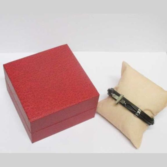 cross leather bracelet with gift box