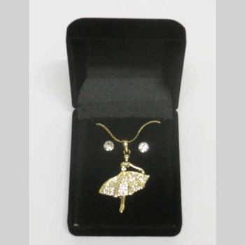 jewelry dancer pendant gold crystal