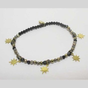 fine pearl and stone bracelet jewelry with leaf pendant